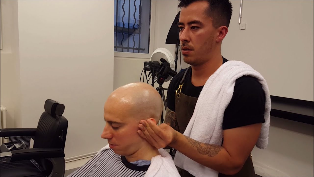Nomad Barber Head Shave With Head And Ear Massage ASMR