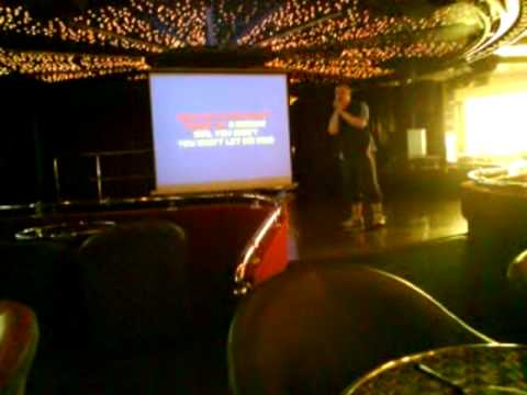 me singing on pride of bilbao karaoke