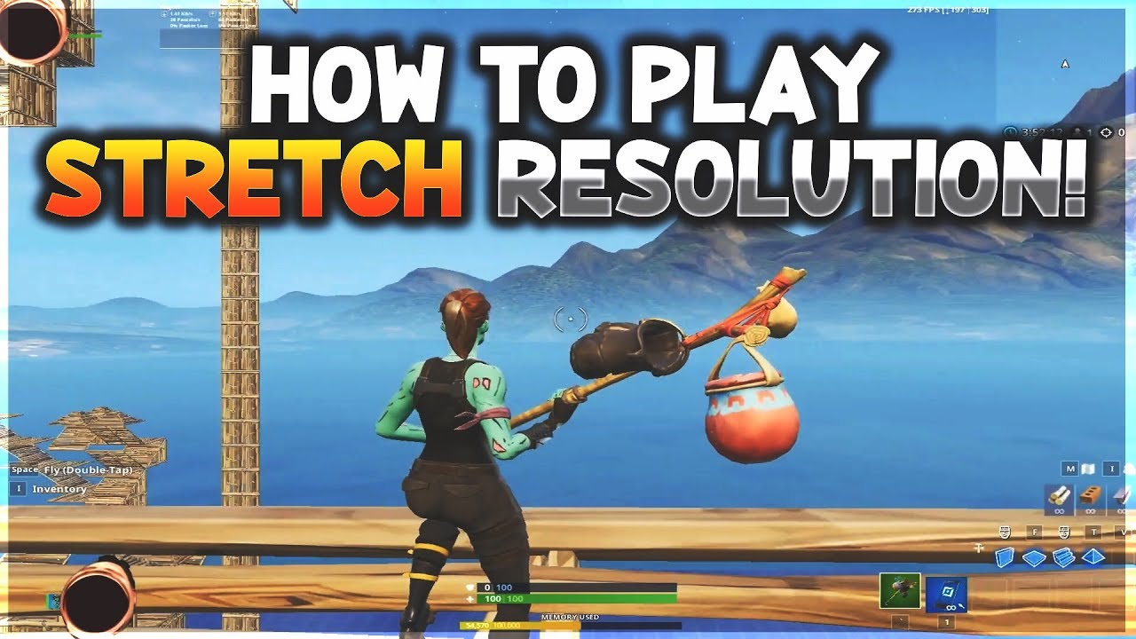 How To Play Stretch Resolution In Fortnite Season 9 1600x1080