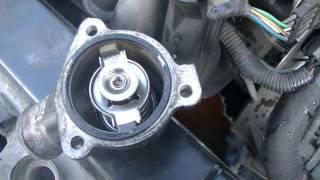 калина замена термостата двигатель 1.4    16V