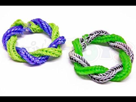 How To Make A Rainbow Loom Twist Away Bracelet Easy Youtube