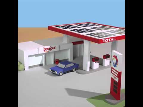 Gas station powered by solar energy in Onigbagbo (Nigeria)