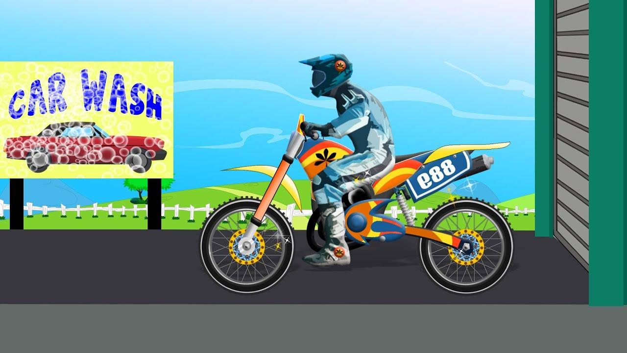 Bike Car Wash Toy Bike For Kids Videos For Children Baby