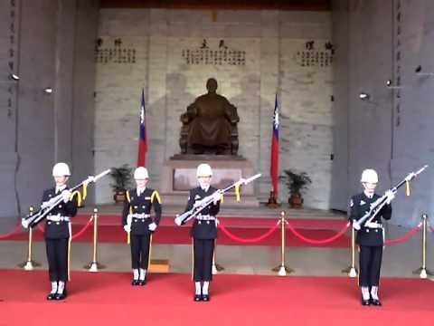 Taiwanese soldier at the Chiang Kai-Shek Memorial Hall