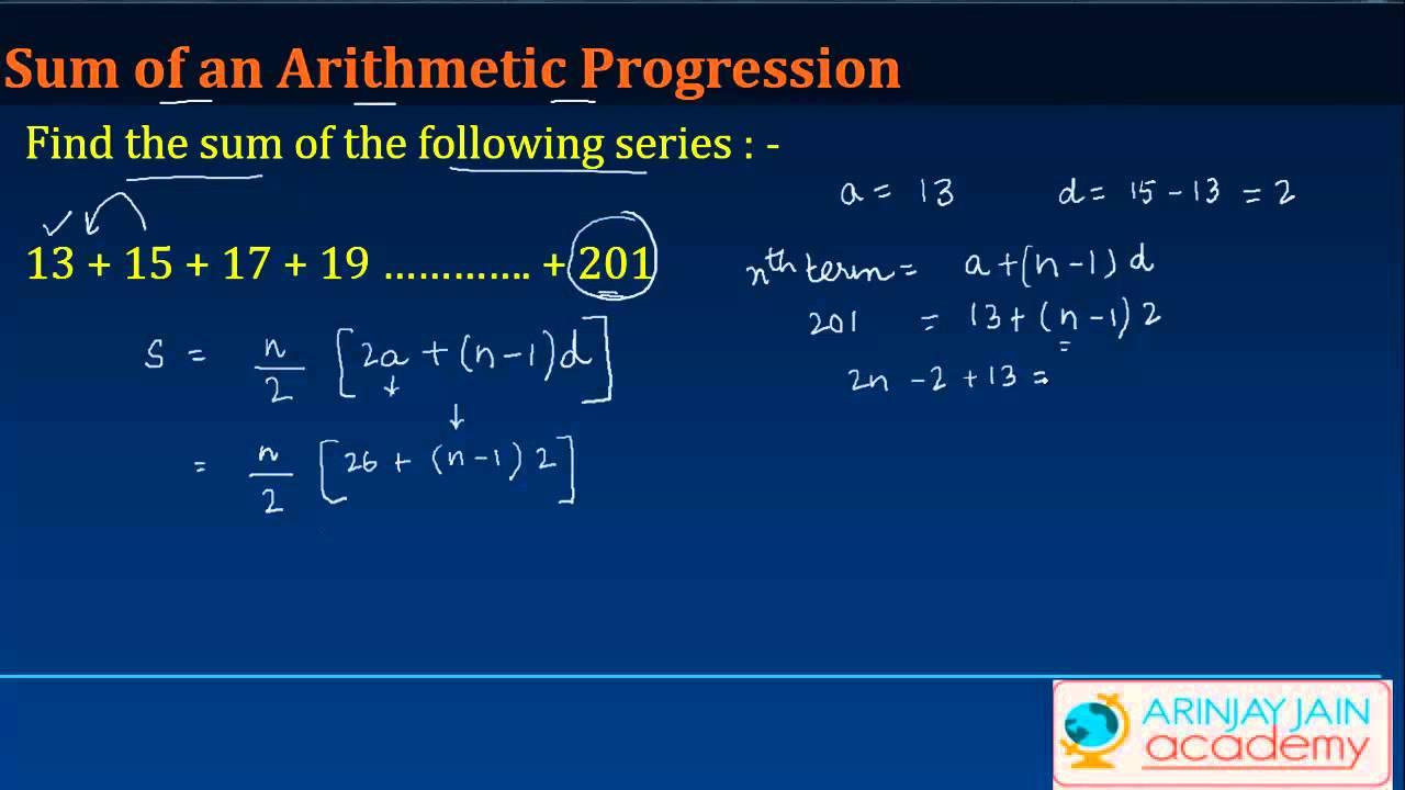 Sum of an Arithmetic Progression - Maths Class X Quadratic Equation  #CBSE#ICSE#NCERT