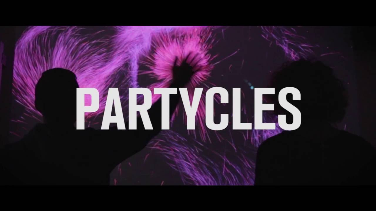 Image result for Partycles - An Interactive Installation // Microsoft Kinect