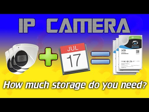 IPcam: How To Calculate HDD Space For IP Cameras