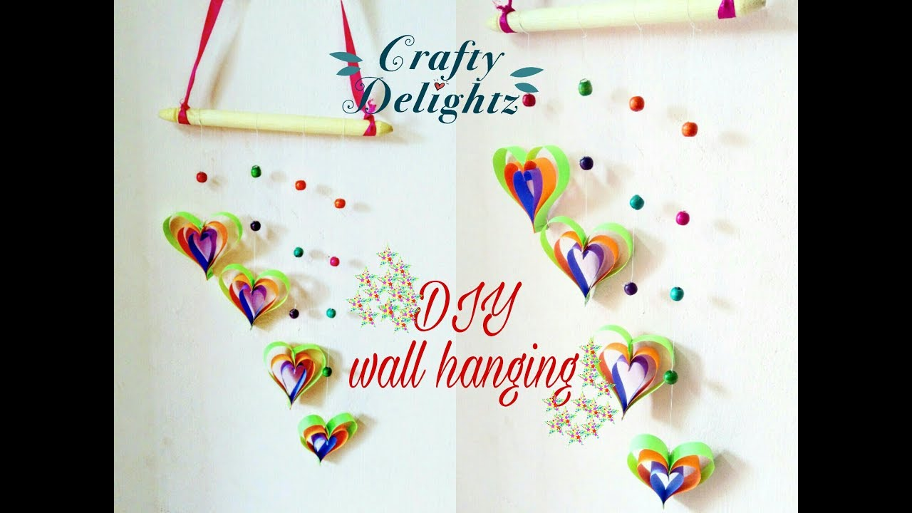 Wall Hanging Craft Ideas For Kids Part - 35: How To Do Wall Hanging Craft Ideas For Kids/ Simple And Easy Decor For  Beginners- By Crafty Delightz