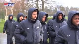 Football / Les premiers pas d'Enzo Zidane à Clairefontaine - 03/03