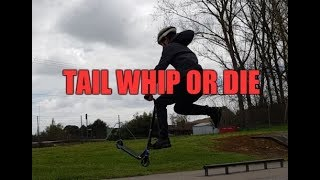 I try to do a tail whip on a scooter + watermelon
