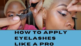 HOW TO APPLY YΟUR FALSE LASHES LIKE A PRO😍