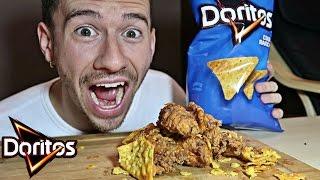 DIY DORITOS CHICKEN FINGERS TASTE TEST!!