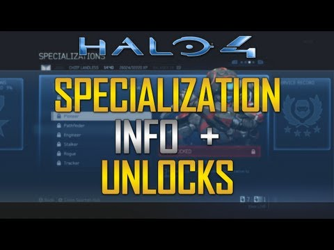 Halo 4 - Specialization Details & Unlocks! Tactical Packages & Support Upgrades!