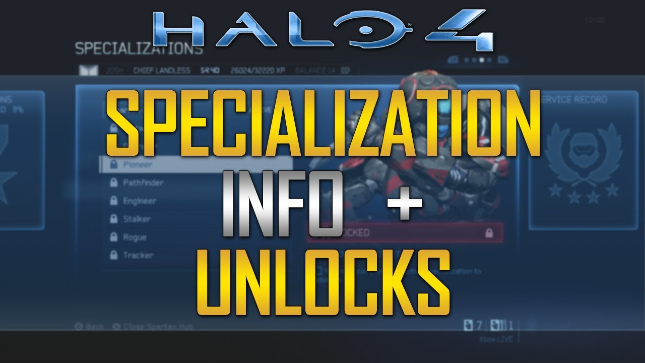 how to unlock specializations in halo 4