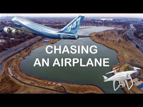 CHASING AN AIRPLANE - DJI PHANTOM 4 ✔️
