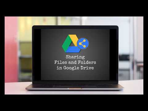 Sharing Files & Folders in Google Drive