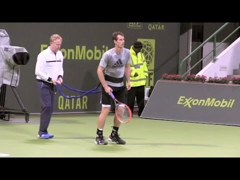 Andy Murray Training session in Doha, Quatar - Part1