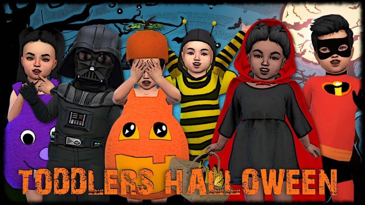 The Sims 4: Create a Sim// TODDLERS HALLOWEEN COSTUMES + CC Links ...