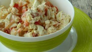 Как приготовить салат с болгарским перцем, помидором и сыром