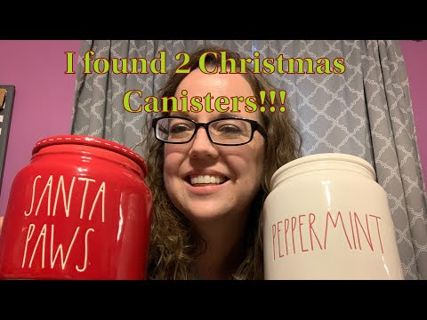 Rae Dunn Hunt with me at Home Goods & TJ Maxx // Christmas Canister Haul