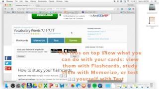 Cram.com Flashcard Tutorial