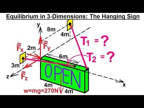 Mechanical Engineering: Equilibrium of Rigid Bodies (30 of 32) Equilibrium in 3-D Ex. 1***