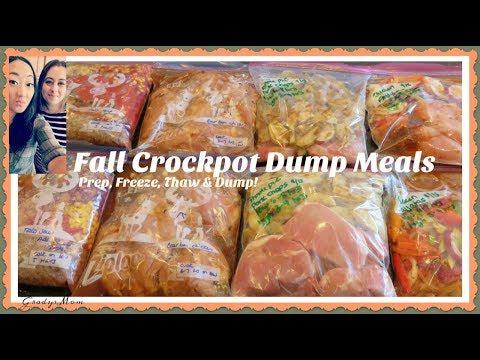 Fall Crock Pot Freezer Meals | Dump & Go! | Set It & Forget It!