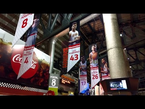 Game-day tour of Philips Arena (Atlanta Hawks - NBA) in Atlanta, Georgia