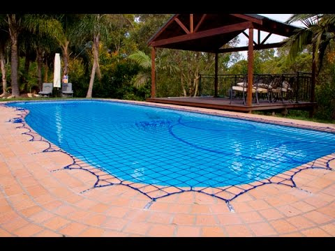 How to use your pool safety net youtube for Swimming pool safety net covers