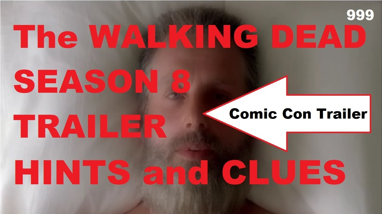 the walking dead season 8 trailer hints and clues youtube. Black Bedroom Furniture Sets. Home Design Ideas