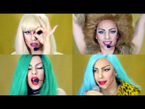 Lady Gaga Concert Makeup Transformation Tutorial (Drag Queen)