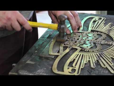 Brass Rising Sun Badge Silver Solder Australian Custom Metalwork Designs