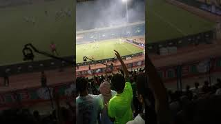 احتفال جمهور الاتفاق العظيم بالهدف الاول امام النصر العالمي