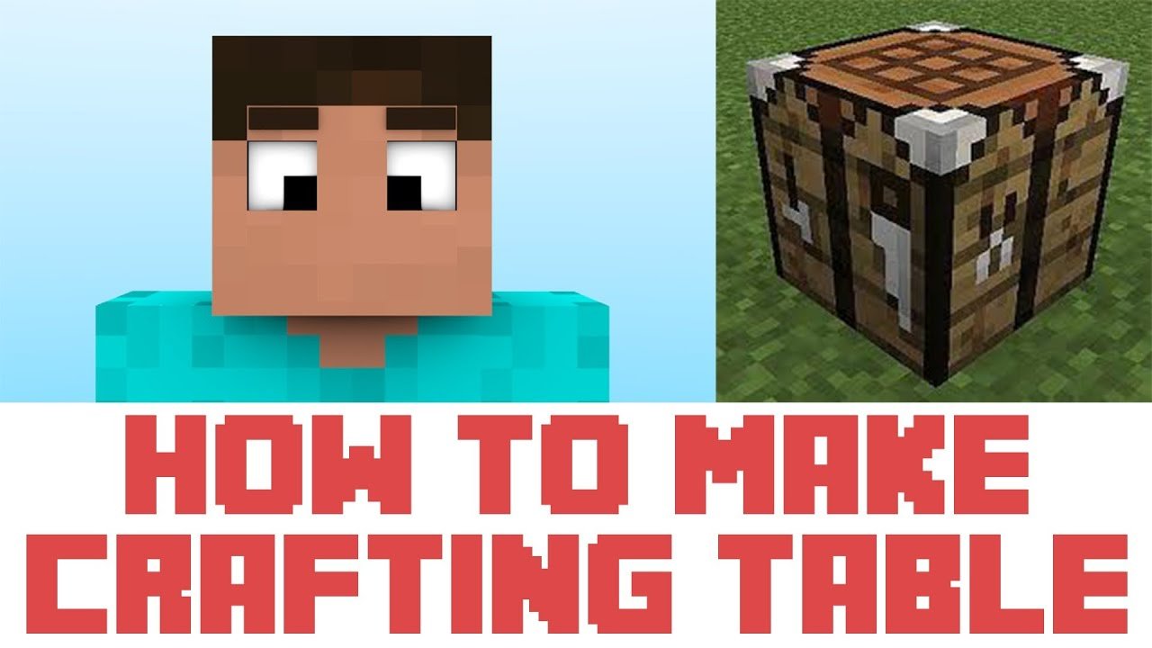 Minecraft Tutorial How To Make A Crafting Table Youtube