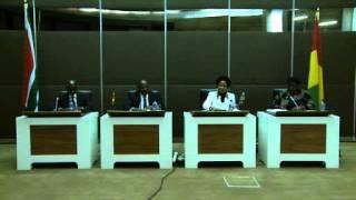 Minister Maite Nkoana-Mashabane hosts Minister Francois Lounceny Fall for the 2nd SA-Guinea JCC