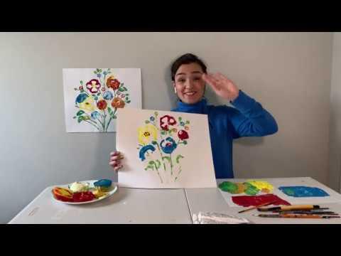 Vegetable Prints with Leila joon!