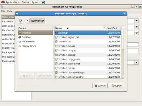 Kickstart Installation for linux