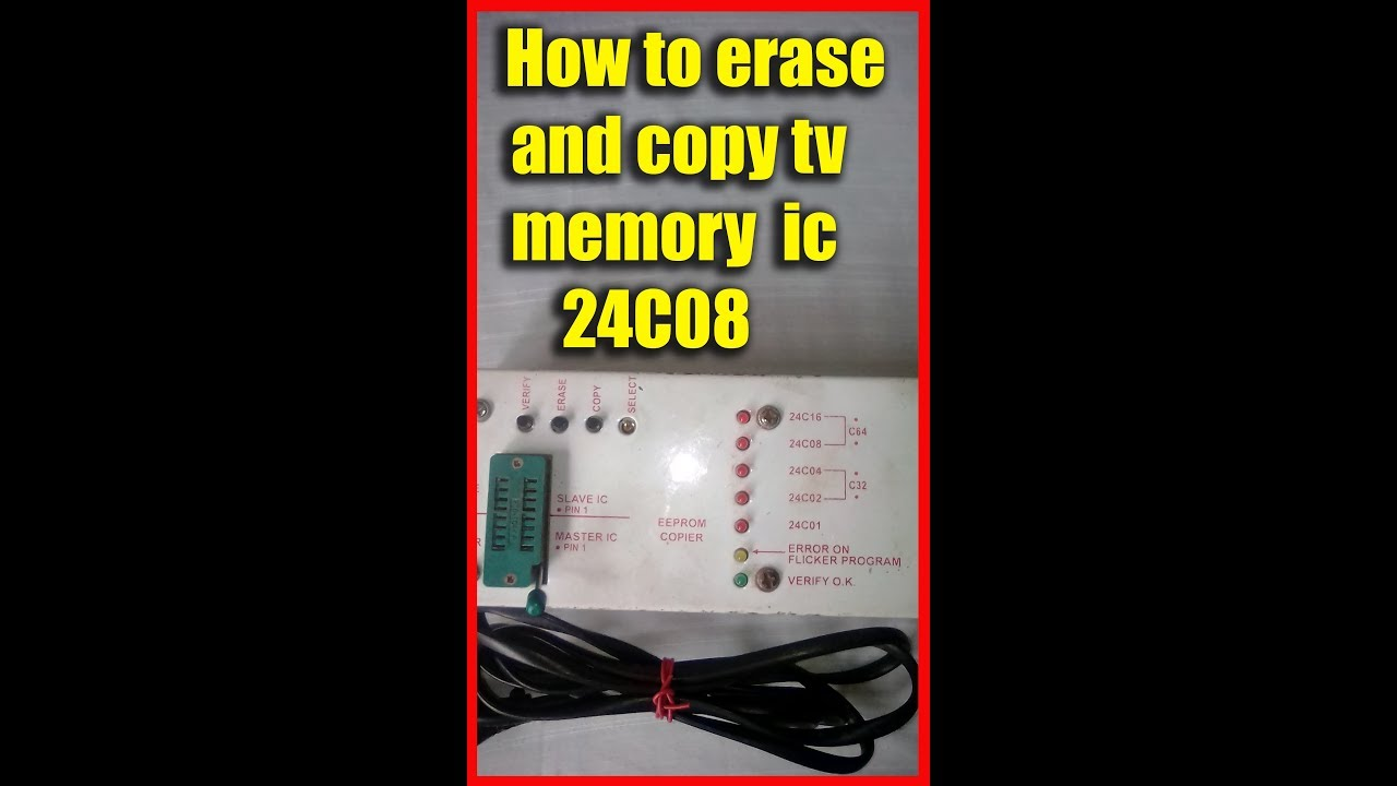 How To Erase And Copy A Memory Ic 24c08 Youtube Usb Parallel Serial Circuit Diagramch341 Basiccircuit