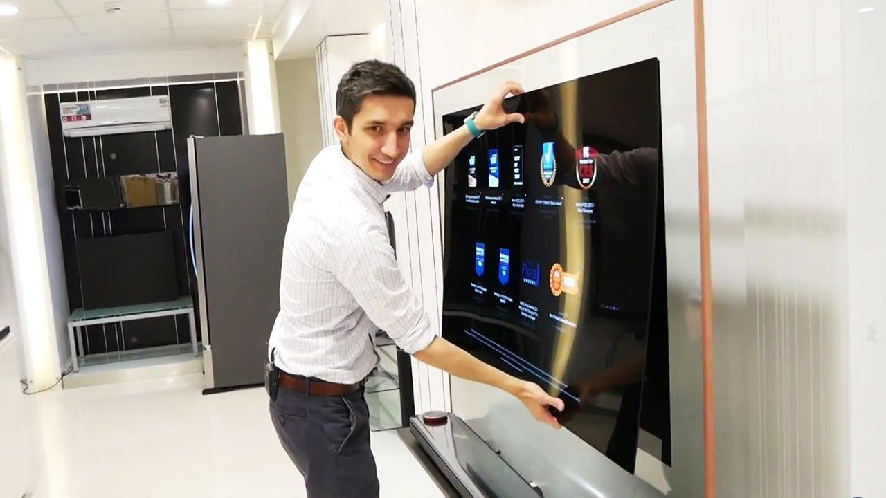 Отклеиваем от стены телевизор-обои LG OLED W
