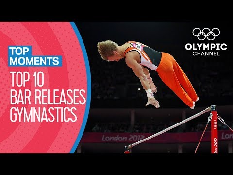 Top 10 Gymnastics Horizontal Bar Releases at Olympic Games | Top Moments