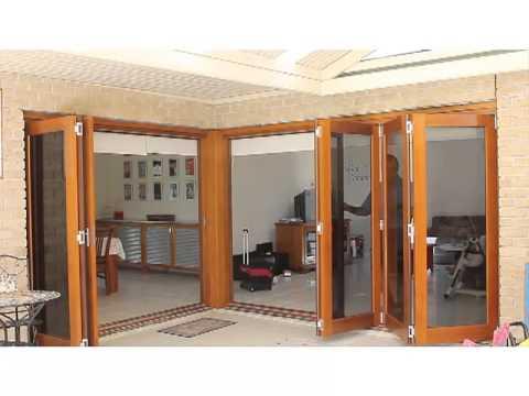 Timber Bifold Doors Demonstration - Woodview Joinery  sc 1 st  YouTube & Timber Bifold Doors Demonstration - Woodview Joinery - YouTube