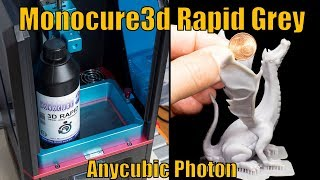 #07 Anycubic Photon - Monocure3d Rapid Grey - Quality and best printing settings