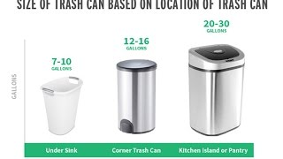 Ultimate Guide To Select Standard Kitchen Trash Can Size Standard Kitchen Trash Can Size Youtube