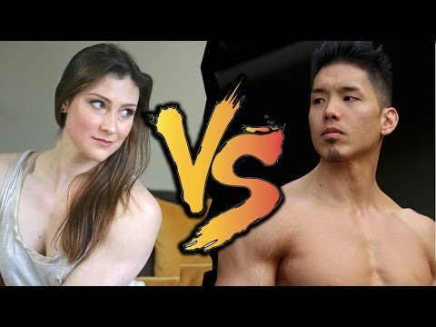EPIC PULL-UP BATTLE: The Crossfit Pull-up Queen vs. Henry Tran