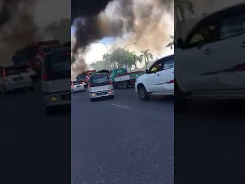 Gas tanker explosion Bitulu 2017