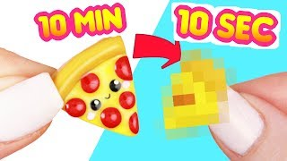 PIZZA CLAY CHALLENGE- 10 second DIY!? - #ClayTimeChallenge