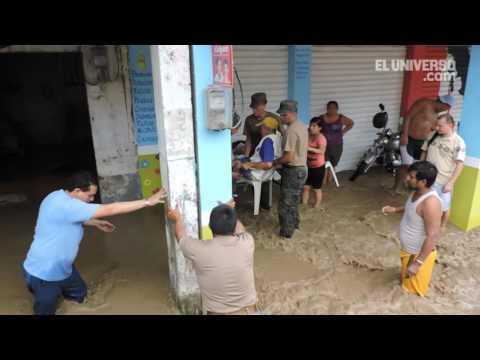 Varias parroquias manabitas afectadas por la lluvia en Portoviejo