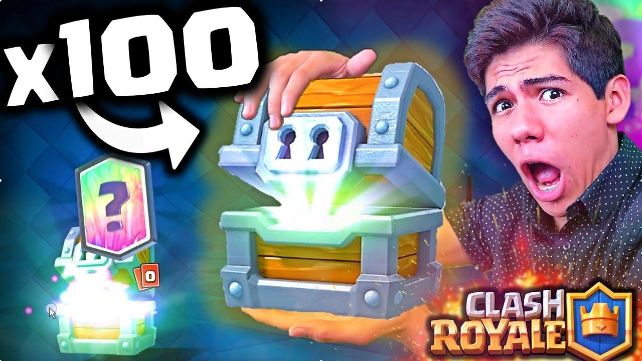 Abriendo 100 Cofres Gigantes De Clash Royale En 10 Minutos Antrax