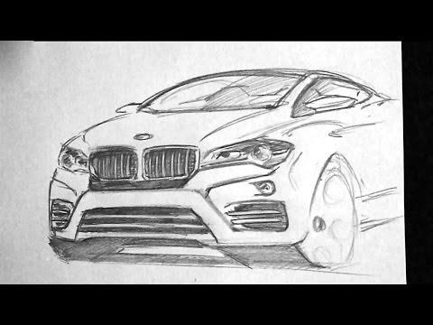 Bmw X6 Sketch 08 06 2014 Youtube