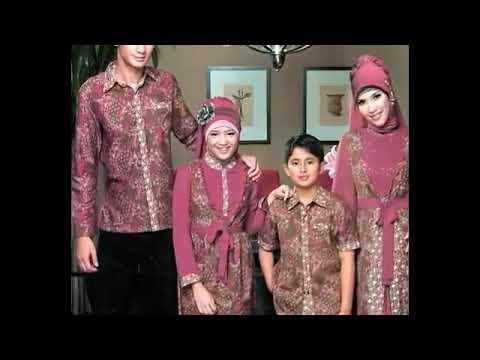Gamis Batik Kombinasi Kain Polos Model Pesta Up Date Bulan